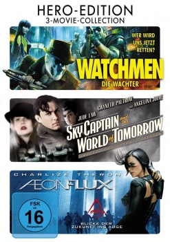 WATCHMEN + SKY CAPTAIN AND THE WORLD OF TOMORROW + AEON FLUX (3 DVDs)