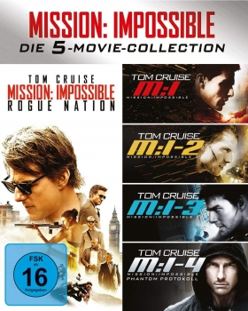 MISSION: IMPOSSIBLE 1-5 (Tom Cruise) 5 Blu-ray Discs
