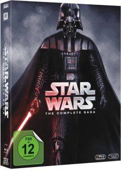 STAR WARS 1-6, The Complete Saga (9 Blu-ray Discs)